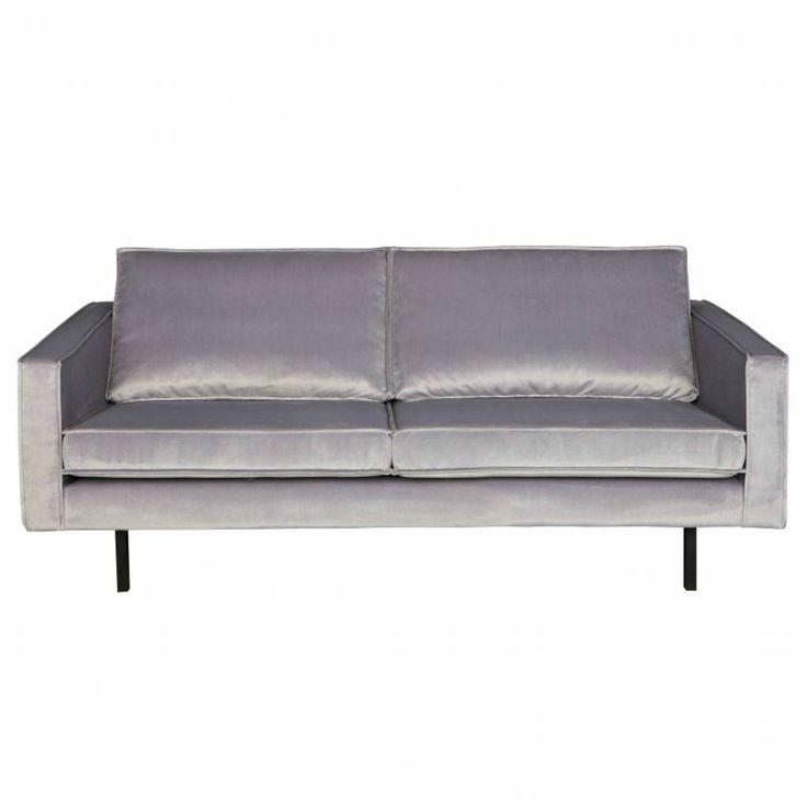 Prachtig 2,5-zits licht grijs, velvet bankstel van BePureHome. Bank Rodeo heeft een moderne, luxe en eigentijdse look met losse kussens. En, een tikkie eigenwij