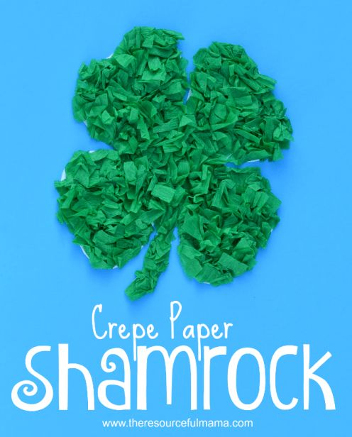 25 unique shamrock template ideas on pinterest march crafts crepe paper shamrock st patricks day kid craft pronofoot35fo Gallery