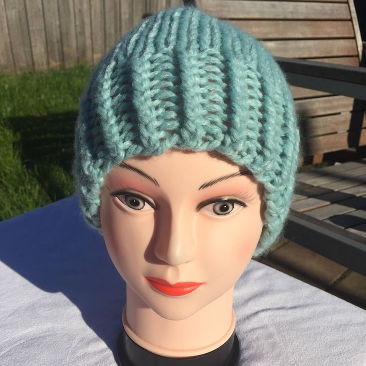 A personal favourite from my Etsy shop https://www.etsy.com/au/listing/522708786/hand-knit-chunky-hat-beanie-hat-toque-in