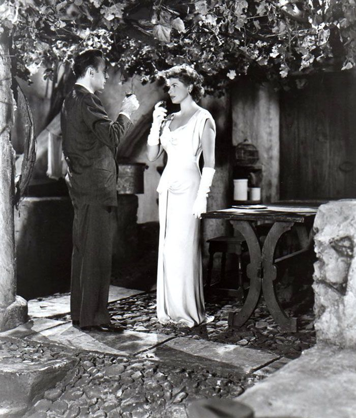 "sala66: ""Charles Boyer e Ingrid Bergman en ""Arco de Triunfo"" (Arch of Triumph), 1948 """