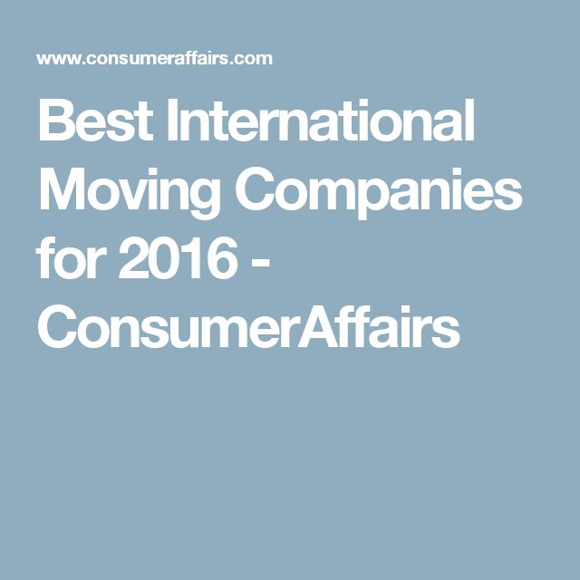 Best International Moving Companies for 2016 - ConsumerAffairs