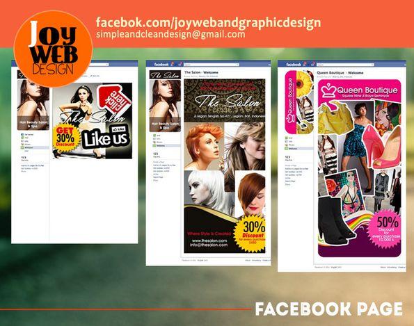 Sample of Facebook fanpage and like gate promo.