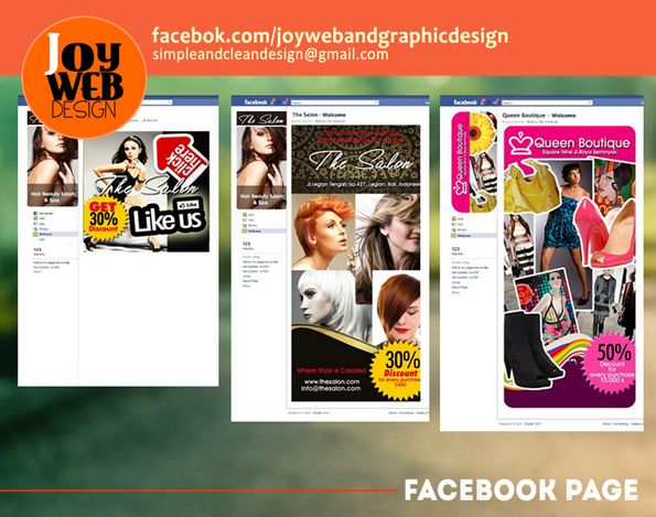 Sample of Facebook fanpage and like gate promo.