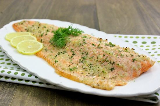 Baked Steelhead Trout Fillet-  Just made this right now and substituted oregano for dill since I couldn't find any dill at Dominick's. Really good recipe and I didn't even use any salt!