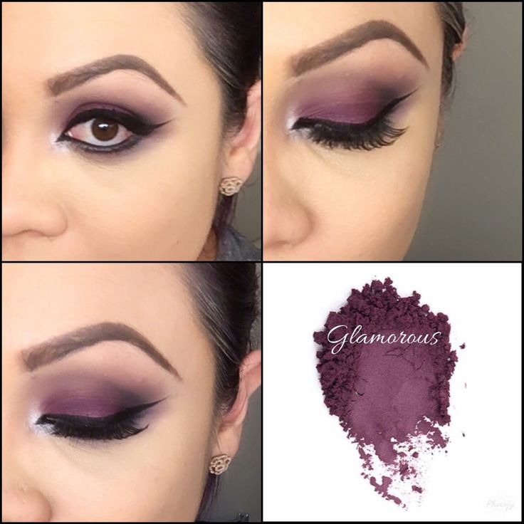 Younique Glamorous mineral pigment.  Used pompous lip liner as an eye base.  From Palette 1 and 3 - smitten inner corner, chipper as a transition color and on the crease used irate.