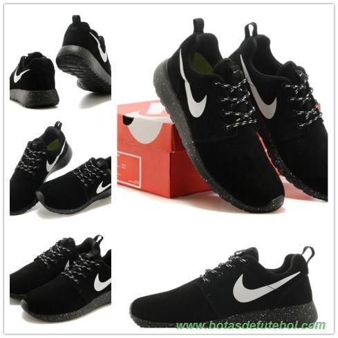 Anti-Fur Preto-Branco/Preto 511881-110 Nike Roshe Run 2015 Masculino chuteiras de futsal baratas