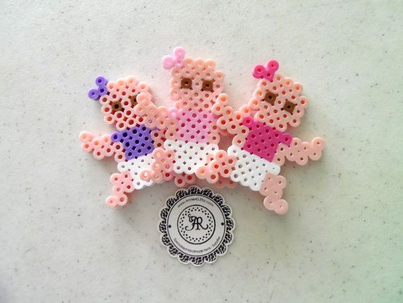 Baby Boy or Baby Girl, Babies Perler Beads, Decorative Baby, Baby Party Favors, Custom Perler Bead Keychains, Baby Shower Favors, Beads. $1.25, via Etsy.