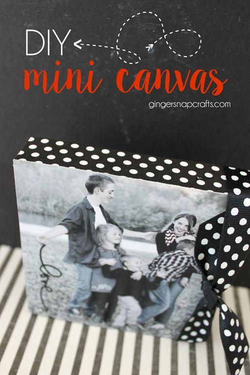 DIY Mini Canvas {tutorial} - #4x4challenge #canvascorp #gingersnapcrafts
