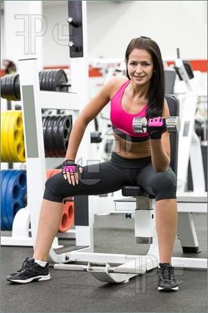 Fitness Woman With Weights Picture