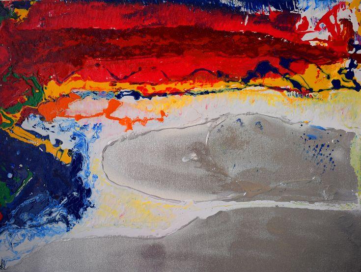 Sunset By The Untrodden Beach- Aatmica Ojha