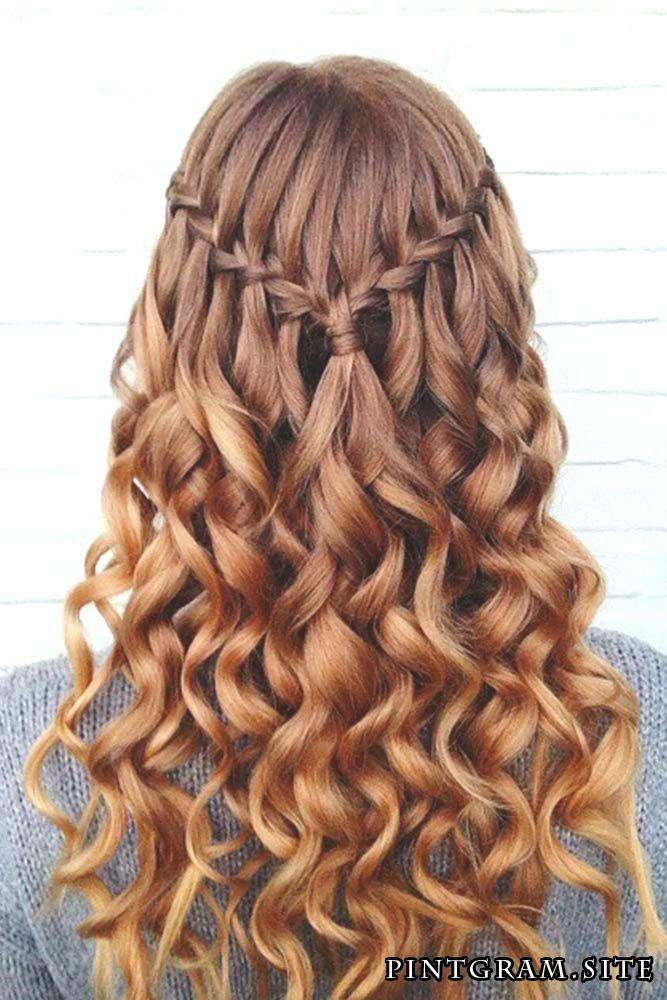 Versuchen Sie 42 Half Up Half Down Promenade Frisuren Frisur Abschlussfeier Frisur Hochgesteckt Wasserfall Frisur