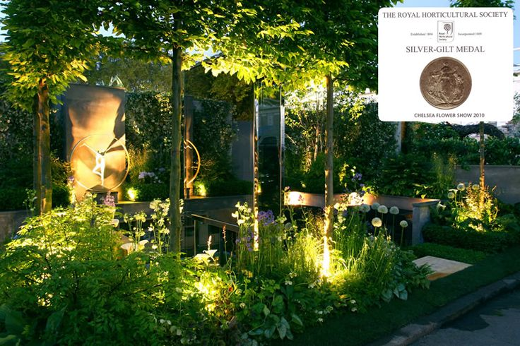 Mood lighting (uplights, spotlights, downlights) brings a garden to life!