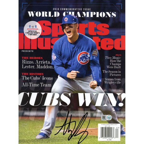Anthony Rizzo Chicago Cubs Fanatics Authentic 2016 MLB World Series Champions Autographed Cubs Win Commemorative Sports Illustrated Magazine - $349.99