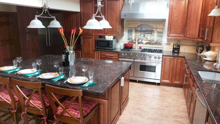 Tan Brown Granite Kitchen Countertop