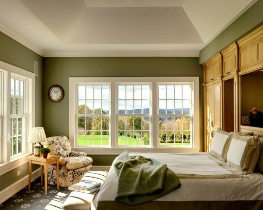 Simple, classic.  And those views!  Who wouldn't love waking up to this!