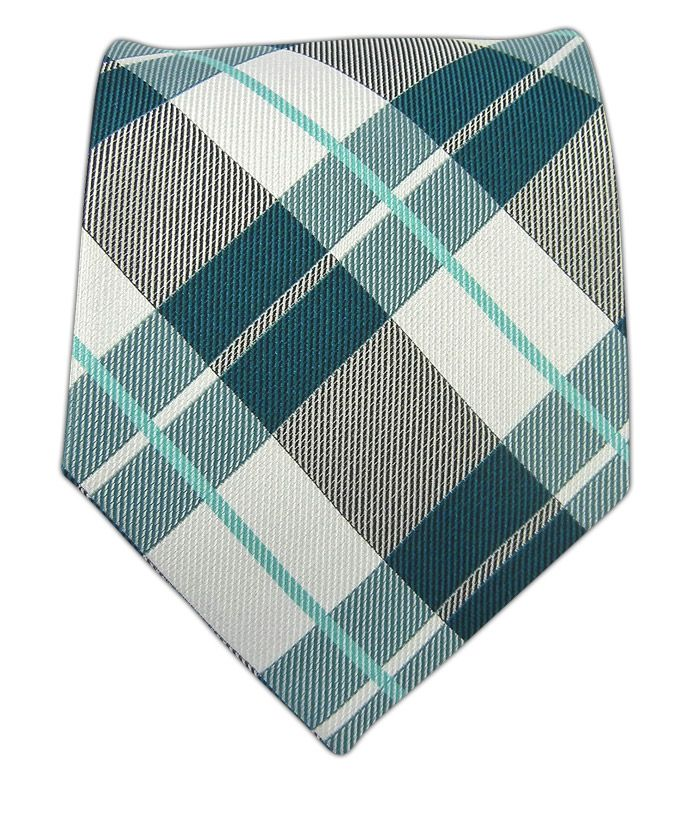 Monster Madras - Green Teal Tie