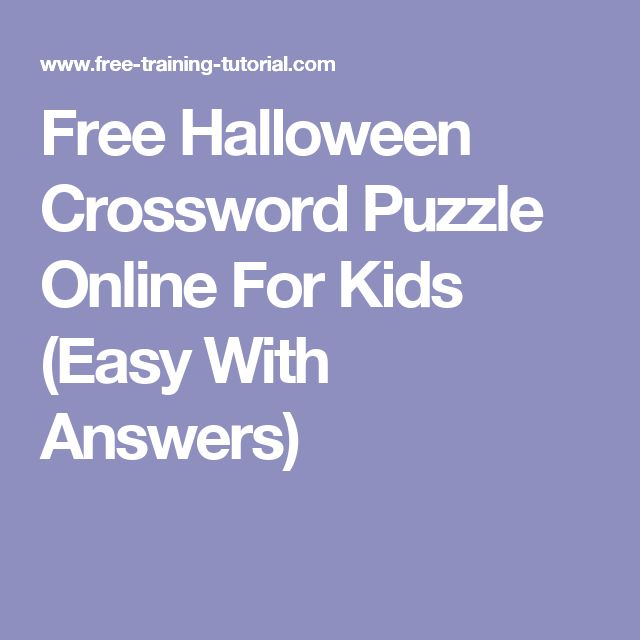 17 best ideas about halloween crossword puzzles on