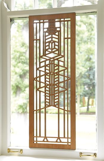 Robie Window Wood Panel; An interplay of light and dark cherry veneers adds dimension to  sc 1 st  Pinterest & 21 best Wall Decor images on Pinterest | Frank lloyd wright Wall ...