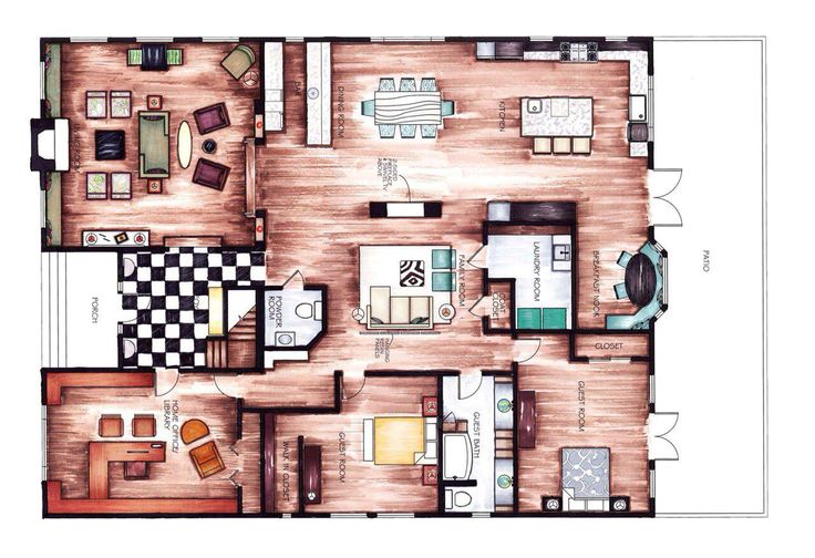 INTERIOR FLOOR PLANS // found by Romy