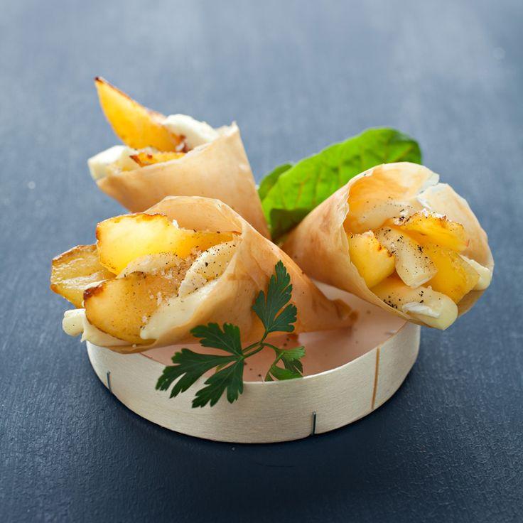 Cornet normand aux pommes et au camembert