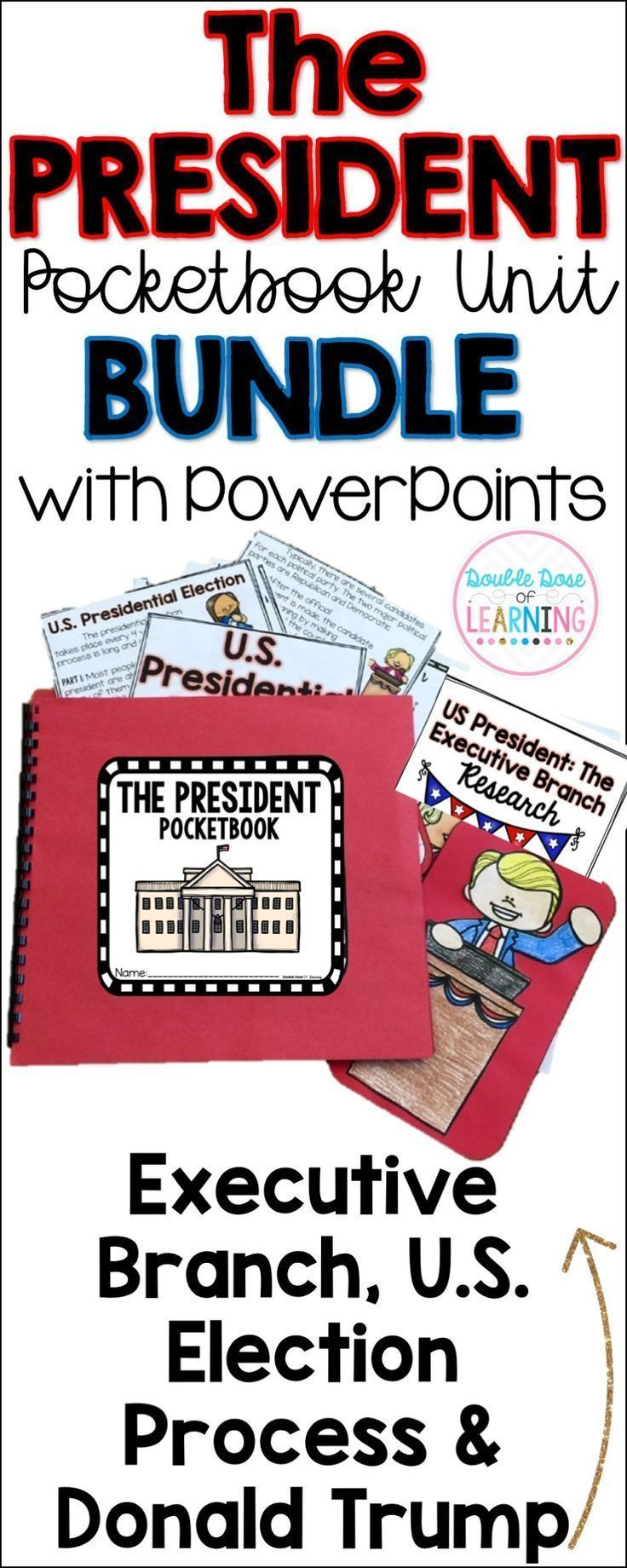 President Trump, the Executive Branch and the Election Process BUNDLE Presidents Pocketbook Unit for grades 1-2 is perfect for Memorial Day, Veterans …