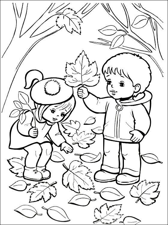Omalovánka-podzim