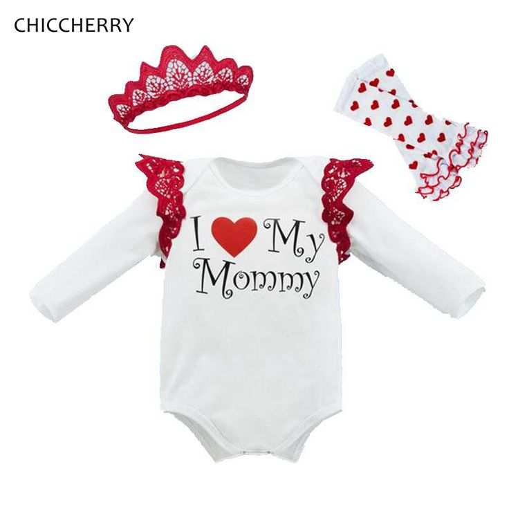 >> Click to Buy << I Love My Mommy Long Sleeve Baby Girl Romper Headband Leg Warmers New Born Infant Clothing Sets Cute Toddler Girl Clothes #Affiliate