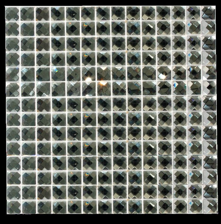 "20 Dark Grey  Mirror faceted crystal bling tile 3/4"" by JablonStudios on Etsy https://www.etsy.com/listing/228316604/20-dark-grey-mirror-faceted-crystal"