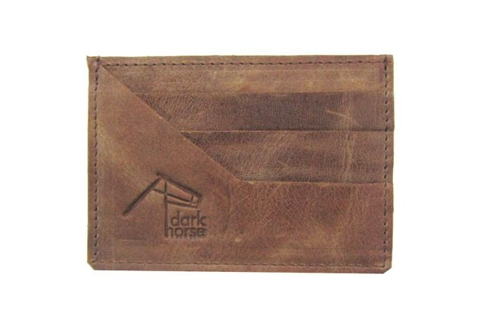 Hazelnut Leather Credit Card Holder by Dark Horse