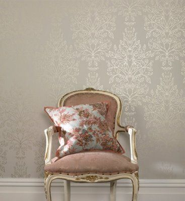 This is my favourite choice of wallpaper; subtle. I'd probably only use it sparingly-perhaps on either side of a chimney breast, as a statement (and, I'll admit! cliche) wall