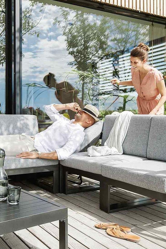 Kettler Ocean Dining Ecke Aluminium Anthrazit Taupe Garten Freizeit Lounge Mobel Gartenmobel Lounge