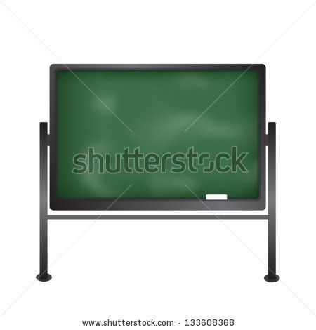 Blackboard with chalk - stock vector