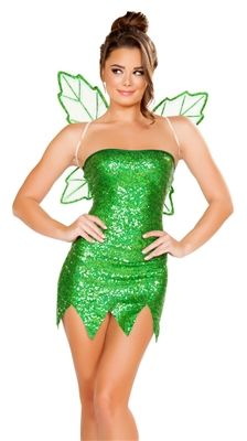 Sequin Tinkerbell costume from Glamour House Costumes, new for Halloween 2016.