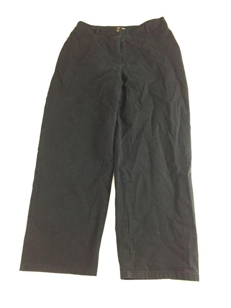 Talbots Petites Women's Dark Wash Stretch Straight Cut Pants Size 8 Inseam 26 #Talbots #Cargo
