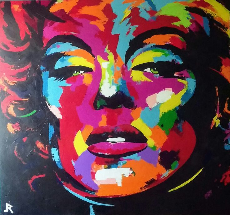 Marilyn Monroe final touches😉 Acrylic painting on canvas size 139x131cm #marilynmonroe #art #painting #icon #star #blue #yellow #pink #red #interior #design #wall #adamraid