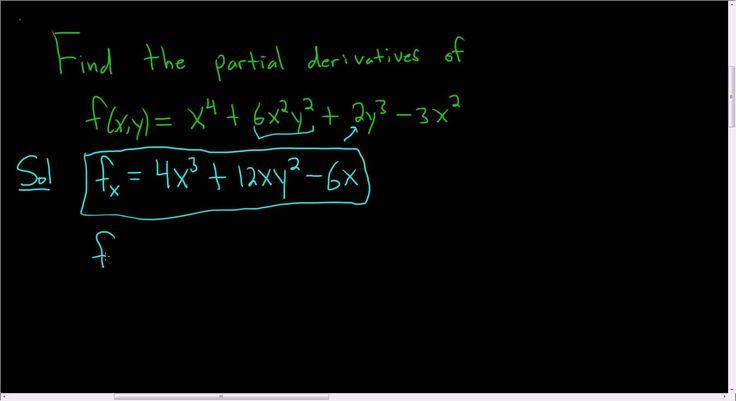 First Order Partial Derivatives of f(x,y) = x^4 + 6x^2y^2 + 2y^3 - 3x^2