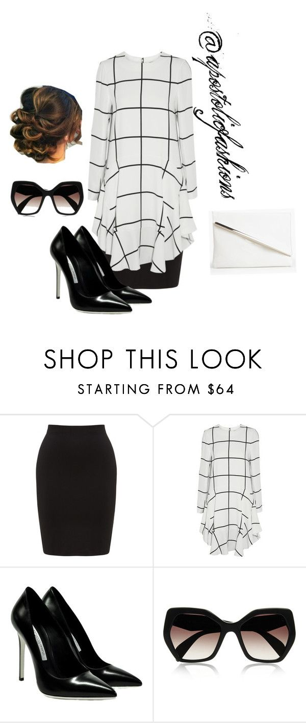 """Apostolic Fashions #1127"" by apostolicfashions on Polyvore featuring Whistles, Chloé, Gianmarco Lorenzi, Prada and Boohoo"