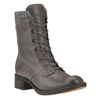 Timberland - Bottes Whittemore Fabric And Leather Lace-Up Femme - Gris