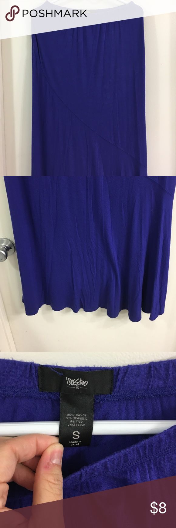 Royal Blue Maxi Skirt Royal Blue Maxi Skirt. Super long. Good condition. No fading. Says small but could fit up to large. Mossimo Supply Co Skirts Maxi