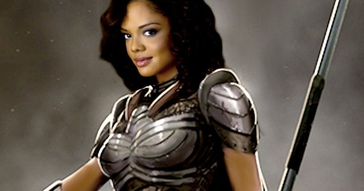 Thor: Ragnarok Set Photo Shows Off Valkyrie's Sword -- Director Taika Waititi shares a sneak peek at his Thor Comic-Con mockumentary, while star Tessa Thompson gives us a good look at her weapon. -- http://movieweb.com/thor-ragnarok-valkyrie-sword-set-photo/