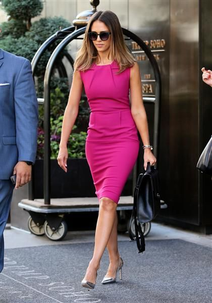 Jessica Alba leaves the Trump SoHo Hotel in New York on Sept. 10, 2014.Like us on Facebook?