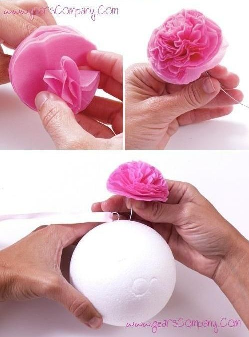 Come realizzare elegantissime sfere di fiori con pochi e semplici materiali.