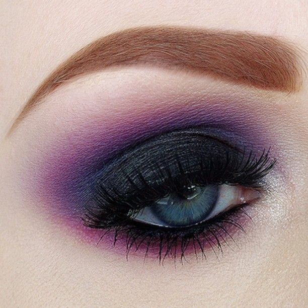 dark purple smokey eye makeup inspiration pinterest