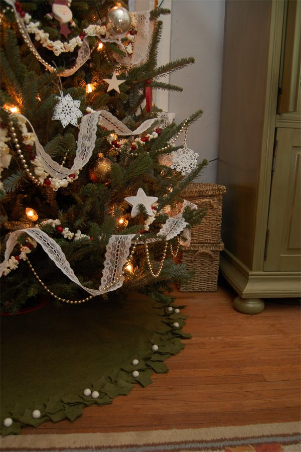Best images about christmas tree skirts and stockings
