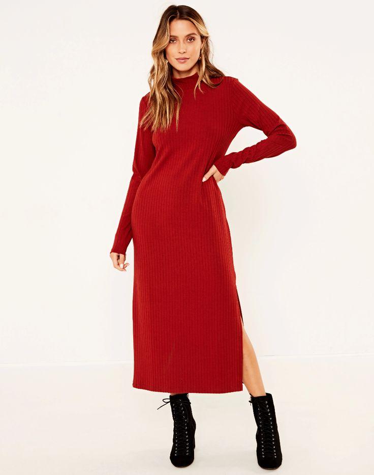 Side Split Midi Dress | Glassons | Fashion clothes women ...