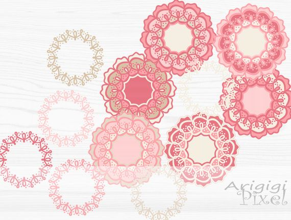 #digital #clipart set, flower and wreath, pink cream pastel, retro, funky, #whimsical, small business use, Photoshop element, #download http://etsy.me/2EJ5NHy #supplies #pink #kidscrafts #beige #digitalclipartset #flowerandwreath #pinkcreampastel #retro