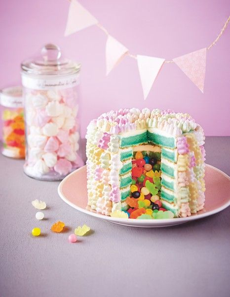 Le « piñata cake » ou « gâteau surprise » est en passe de détrôner le rainbow cake, le gâteau magique et autre push cakes.  http://www.elle.fr/Elle-a-Table/Les-dossiers-de-la-redaction/News-de-la-redaction/comment-faire-un-pinata-cake-2879296