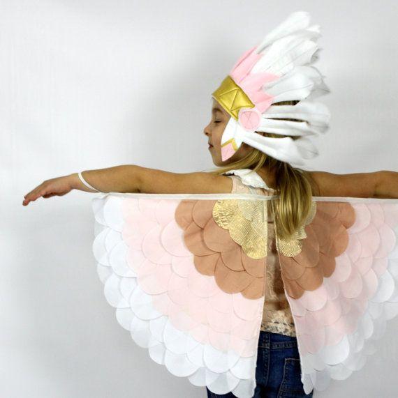 The Bird Wings  Blush  Handmade Children's by sparrowandbcostumery