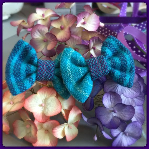 Mini Wrap Scrap Hair Bow SET by SadiesBigBowBoutique on Etsy