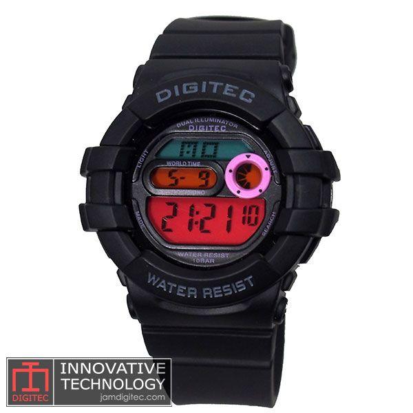 jam tangan digitec wanita DG-2051T hitam pelangi